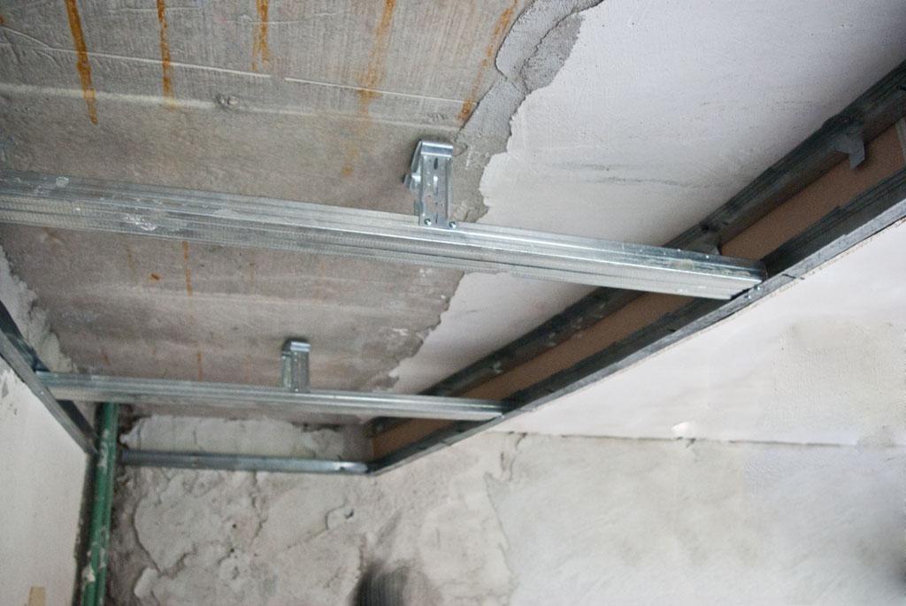 Ceiling arch metal stud frame