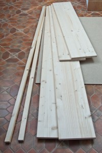 Wood boards for bed frame
