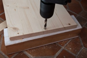 Drilling wood boards