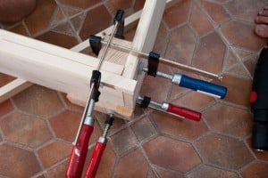 Clamps, bed frame joint