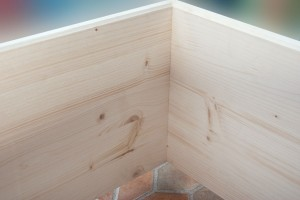 wood bed frame corner joint