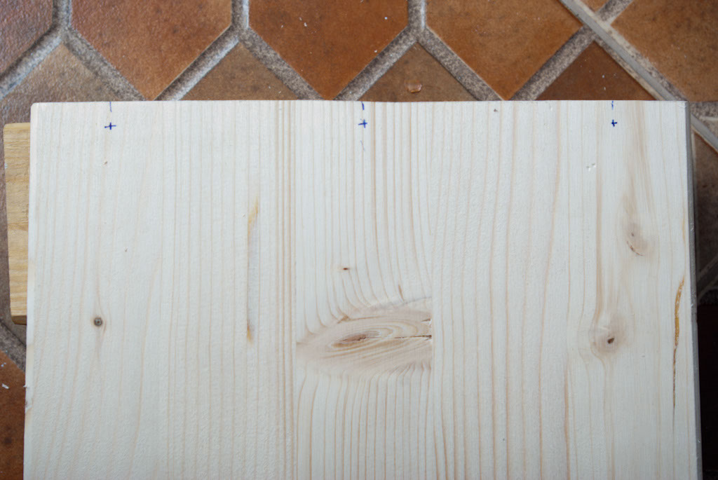 Marking the wood boards