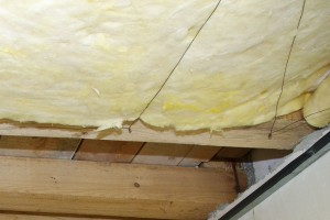 Securing mineral wool with wire