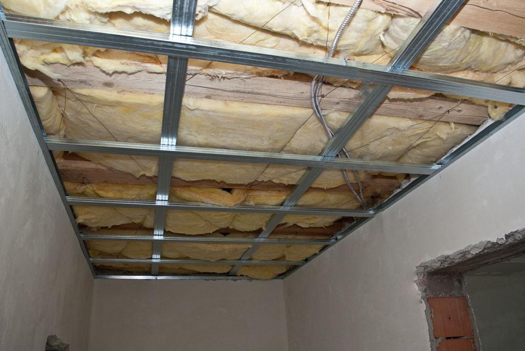 Metal stud ceiling frame