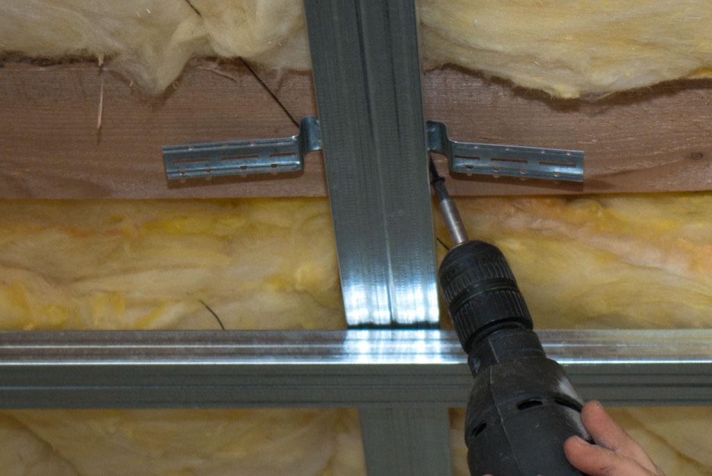 Installing the metal stud brackets