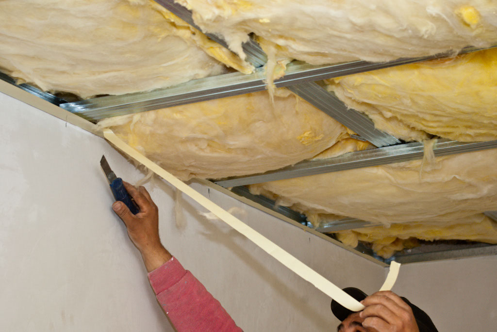 Installing double adhesive tape