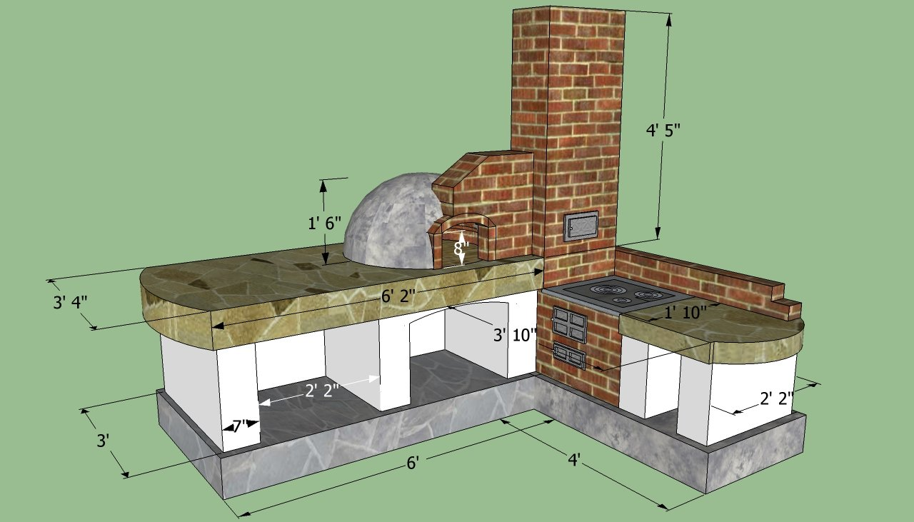 How to build an outdoor kitchen howtospecialist how to for Outdoor kitchen blueprints