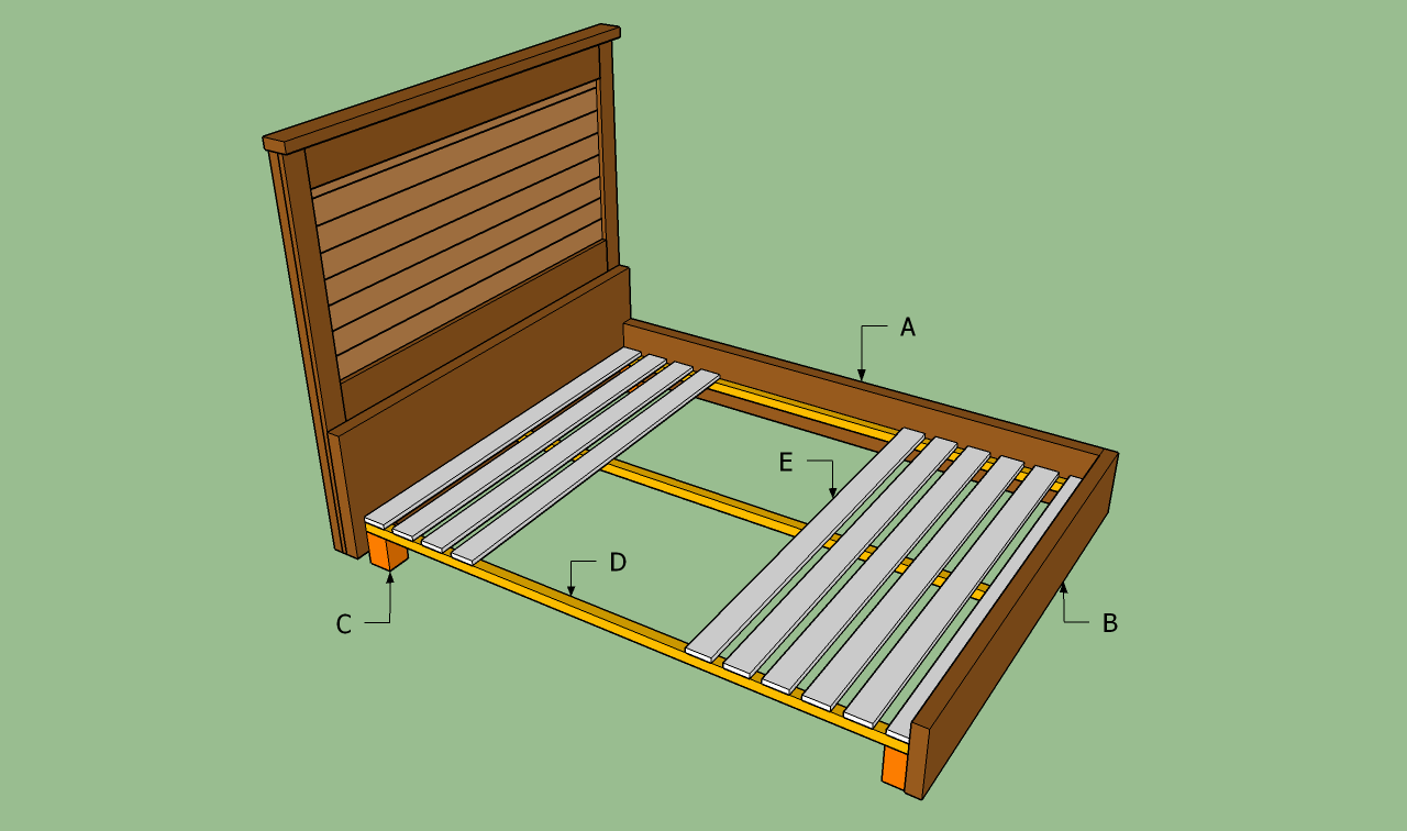 wood bed frame plans - Wooden Bed Frame Plans