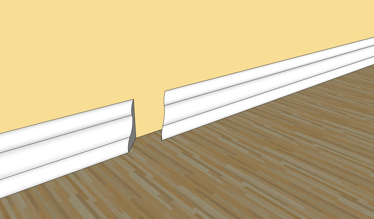 How to cut base molding in place - Installing Baseboard Trim
