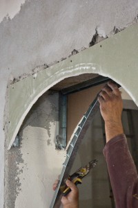 Installing the metal stud arch