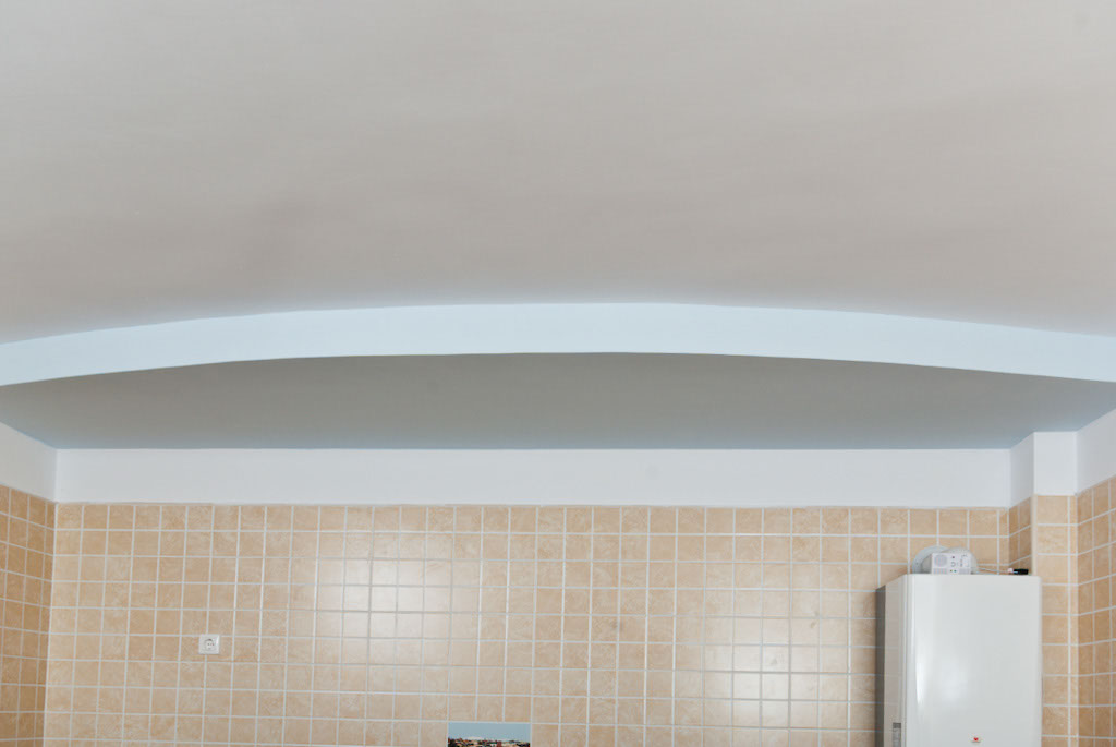 How to build a drywall ceiling arch