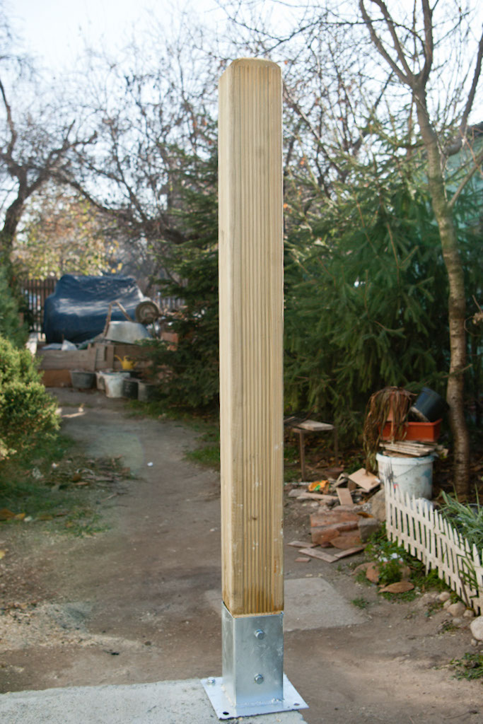 How to attach deck posts