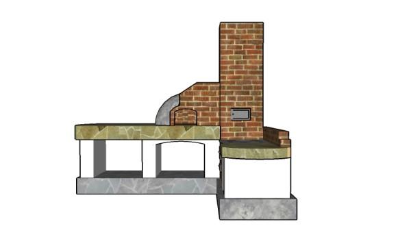 Brick Outdoor Kitchen