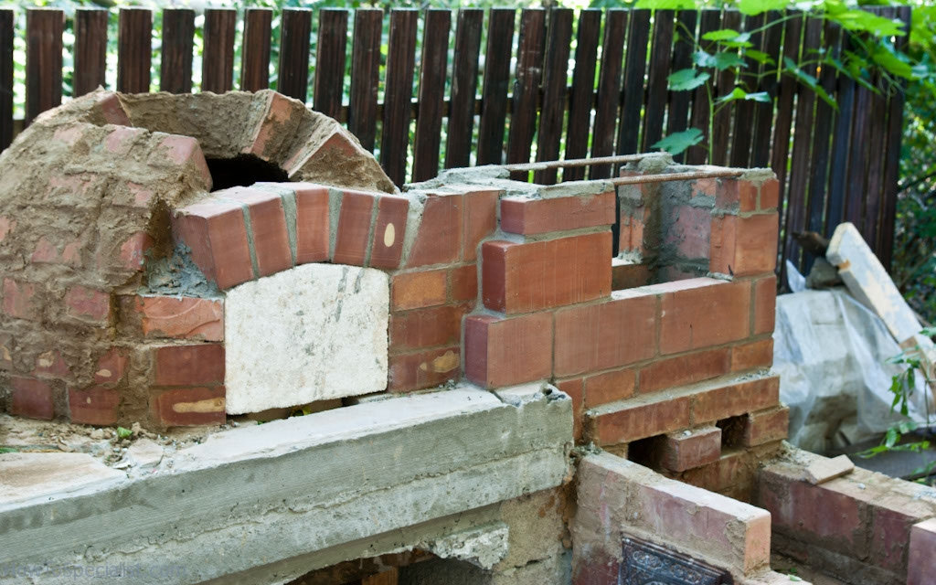 Building the base of the chimney