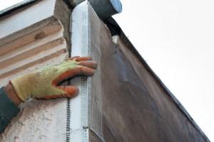Installing fiberglass corner mash