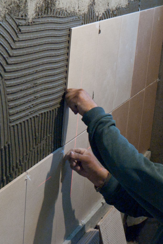 Installing Wall Tile Spacer