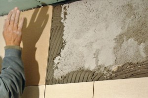 Tapping wall tile