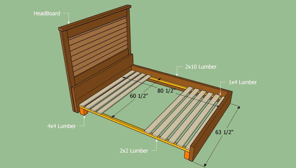 How To Build A California King Platform Bed Frame together with ...
