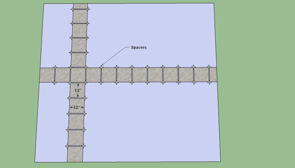 Tile flooring layout