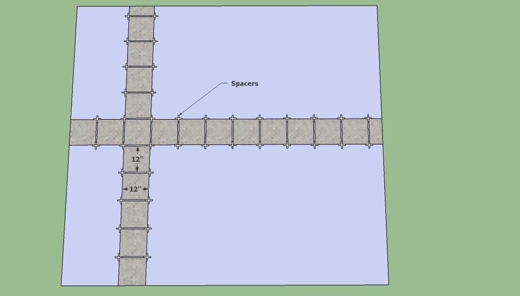 Tile flooring layout