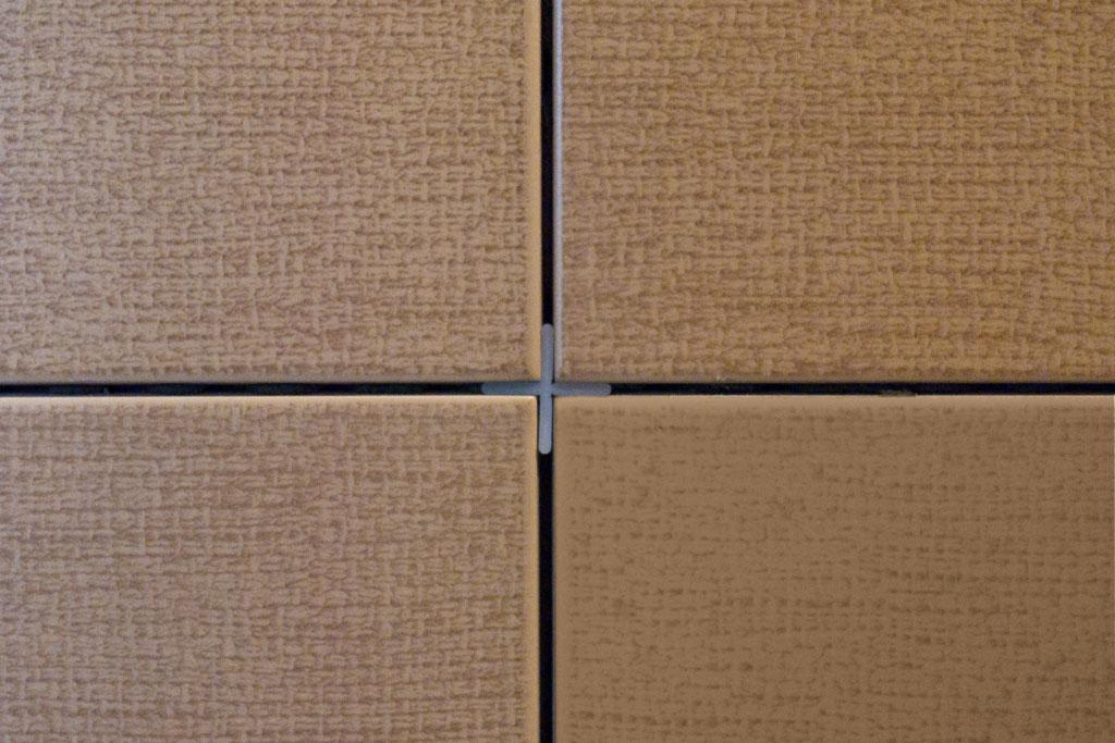 Installing tile spacer