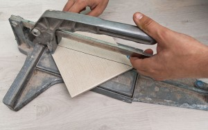 Cutting ceramic tile on diagonal