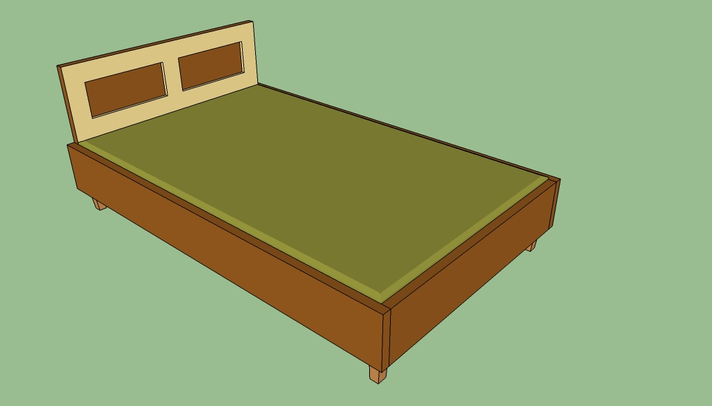 Wooden queen bed frame plans