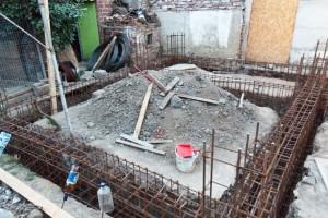 Rebar beams in the foundation
