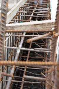 Securing the formwork with 2x2 lumber