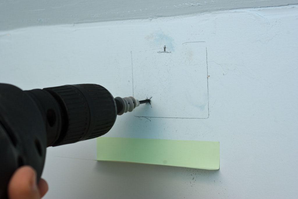 Installing drywall anchor