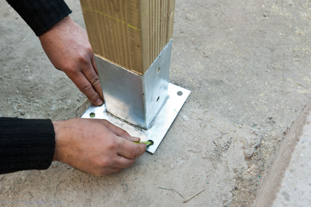 Marking where to install post anchors