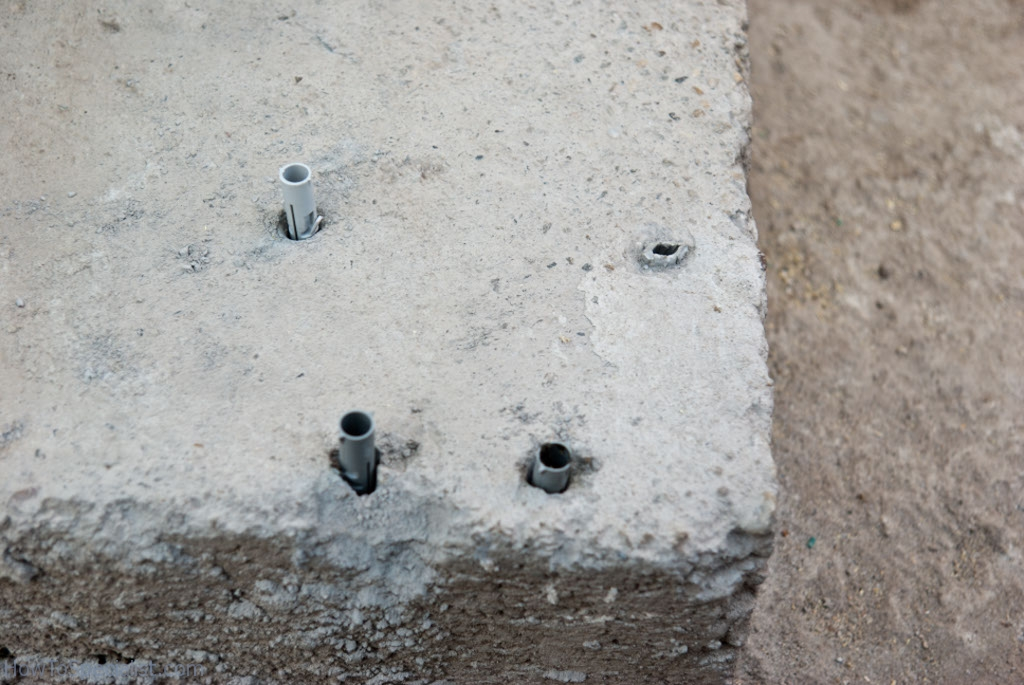 Installing dowels in concrete