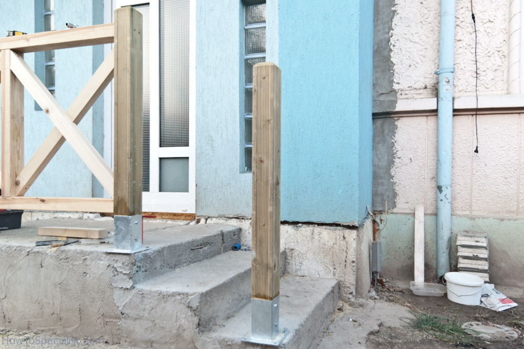 Attaching post to concrete