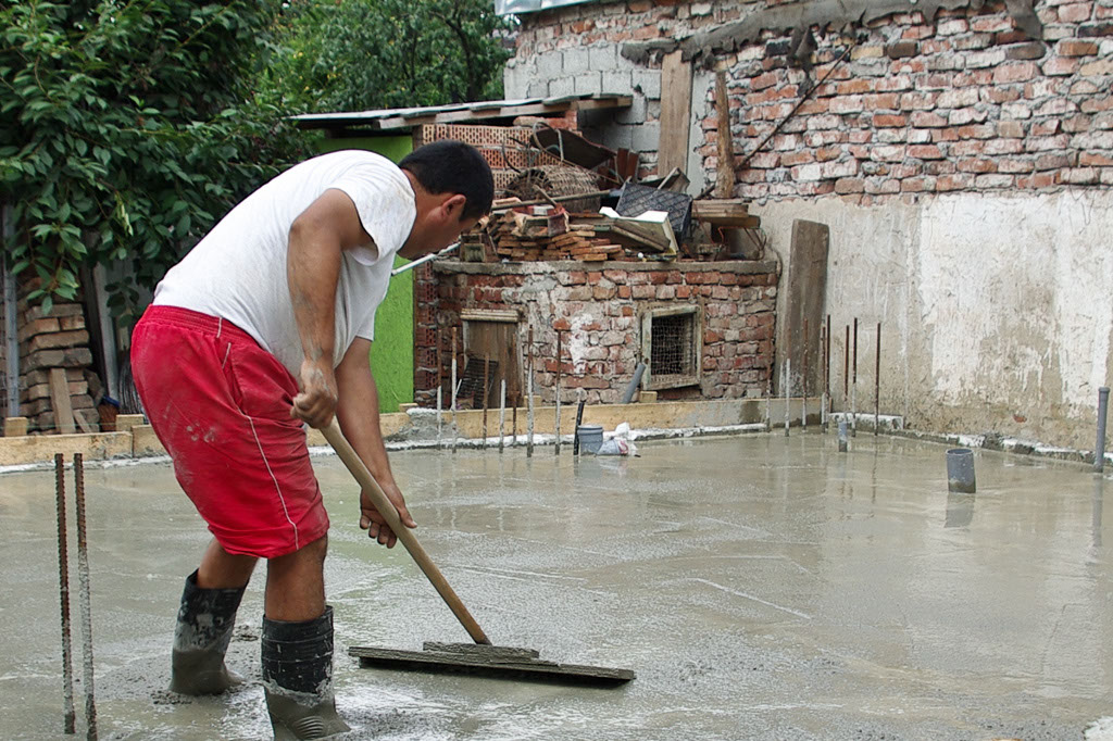 How to finish concrete slab