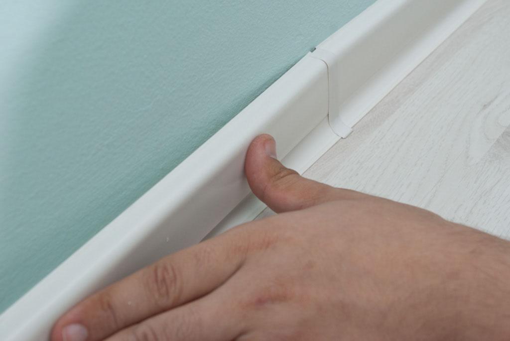 Baseboard molding joint