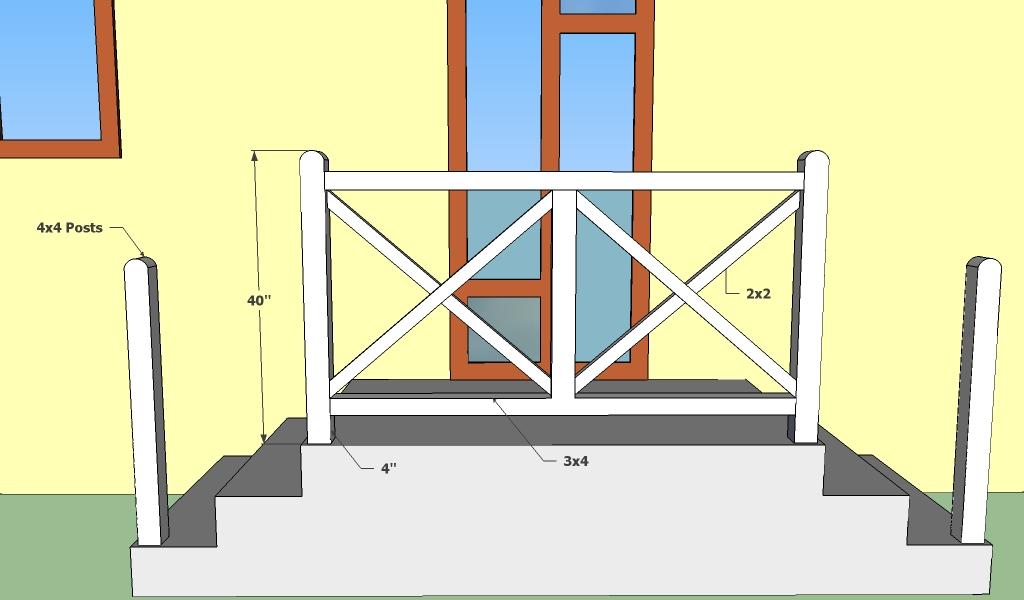 Concrete deck railings