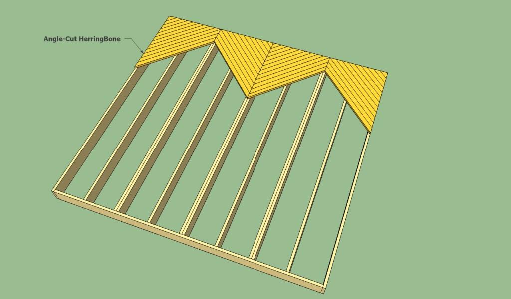 Herringbone decking pattern