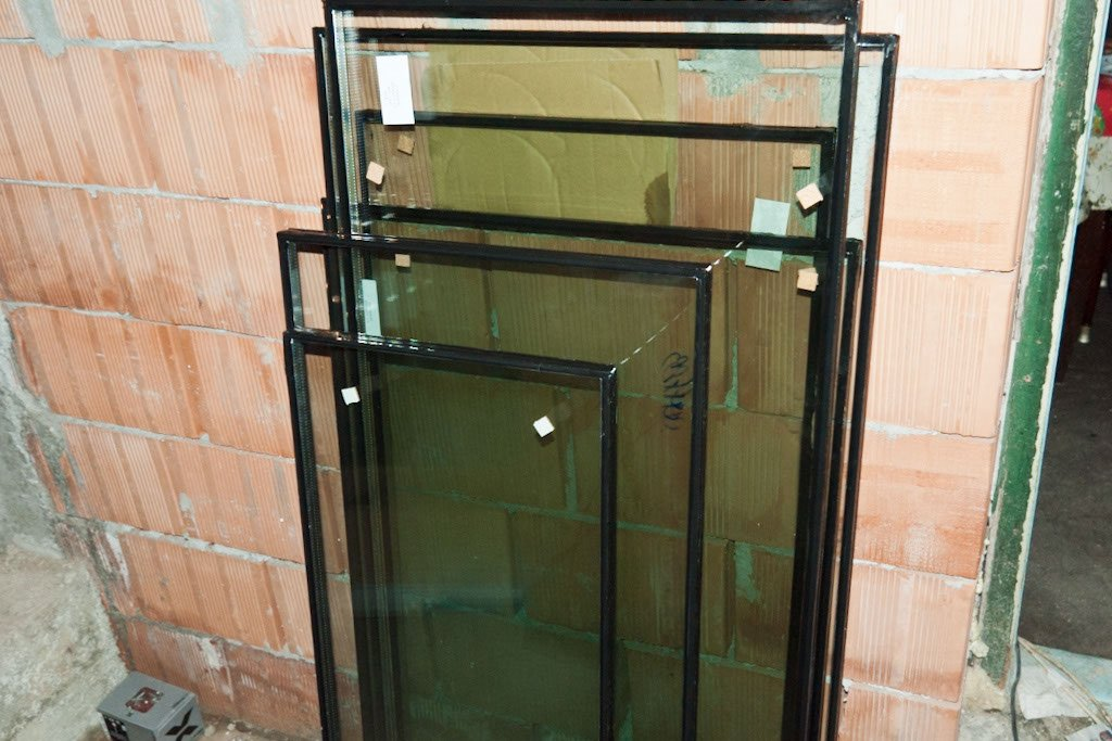 Glass pannels for PVC door