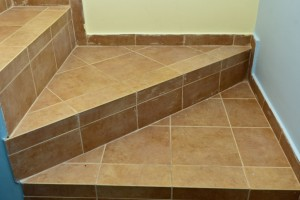 How to tile stairs landing