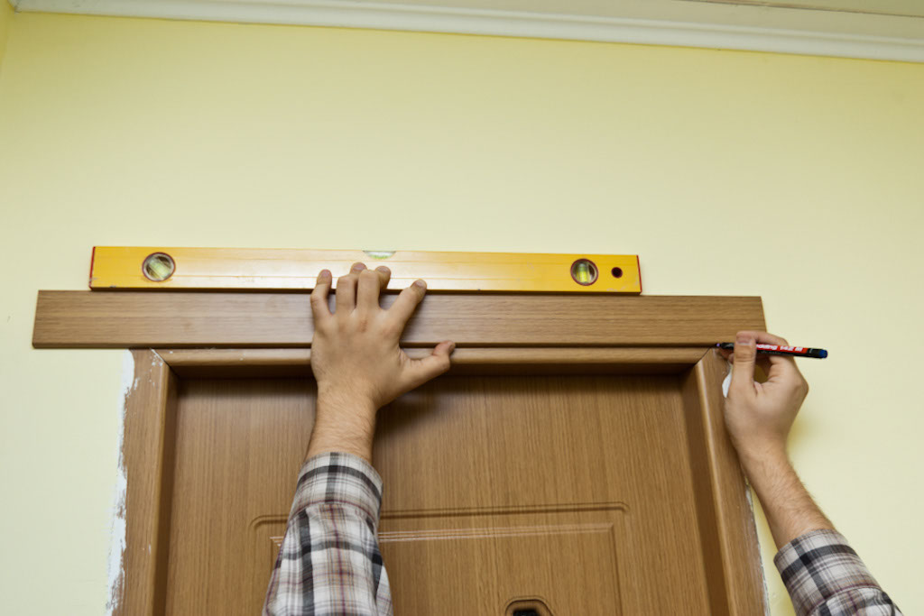 Measuring head casing & Installing door casing | HowToSpecialist - How to Build Step by ...