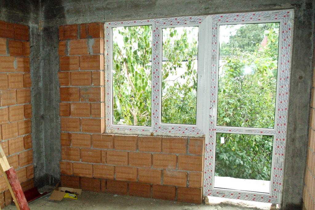 How to install vinyl windows new construction