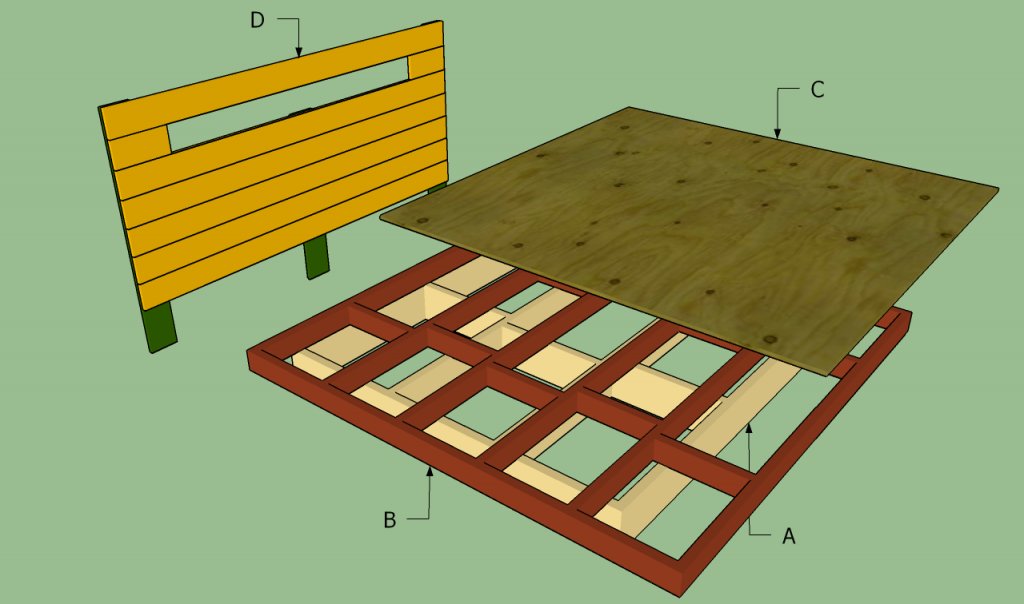 king size platform bed diy