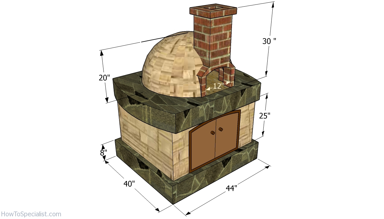 pizza oven free plans howtospecialist how to build step by step