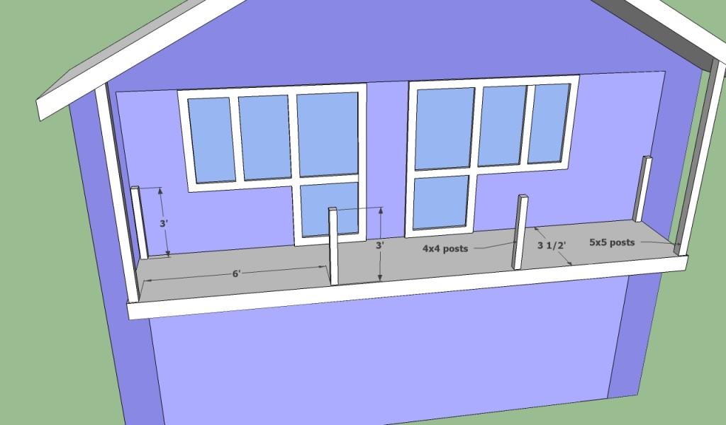 Installing balcony posts