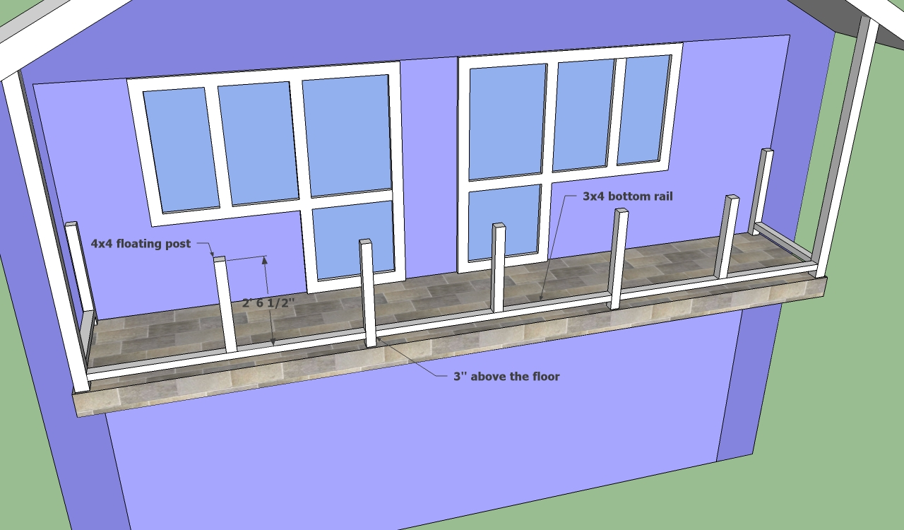 Balcony railing designs howtospecialist how to build for Balcony underside