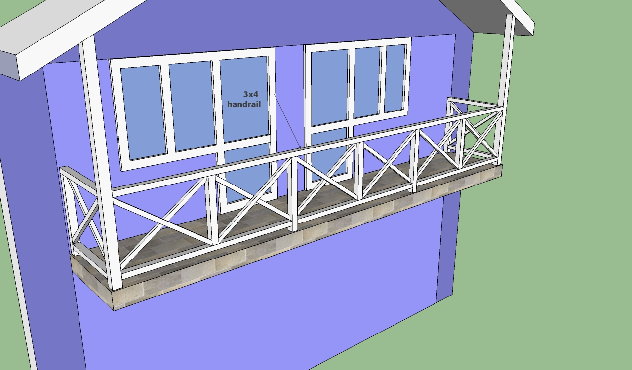 Balcony railing designs howtospecialist how to build for Balcony handrail design
