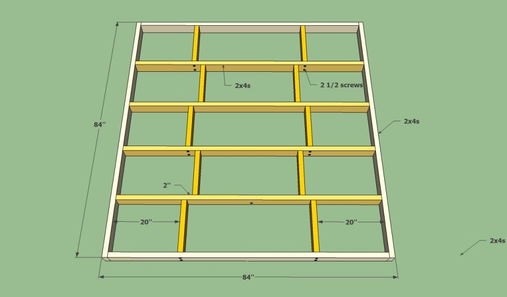 Platform bed frame plans | HowToSpecialist - How to Build, Step by ...