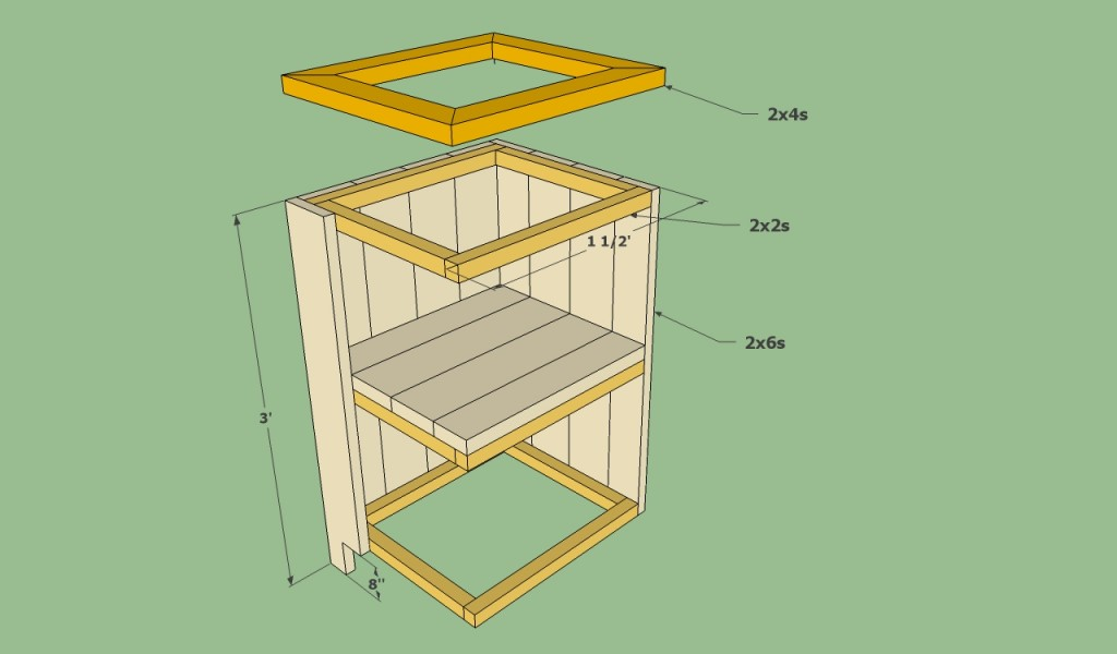 Deck cabinets