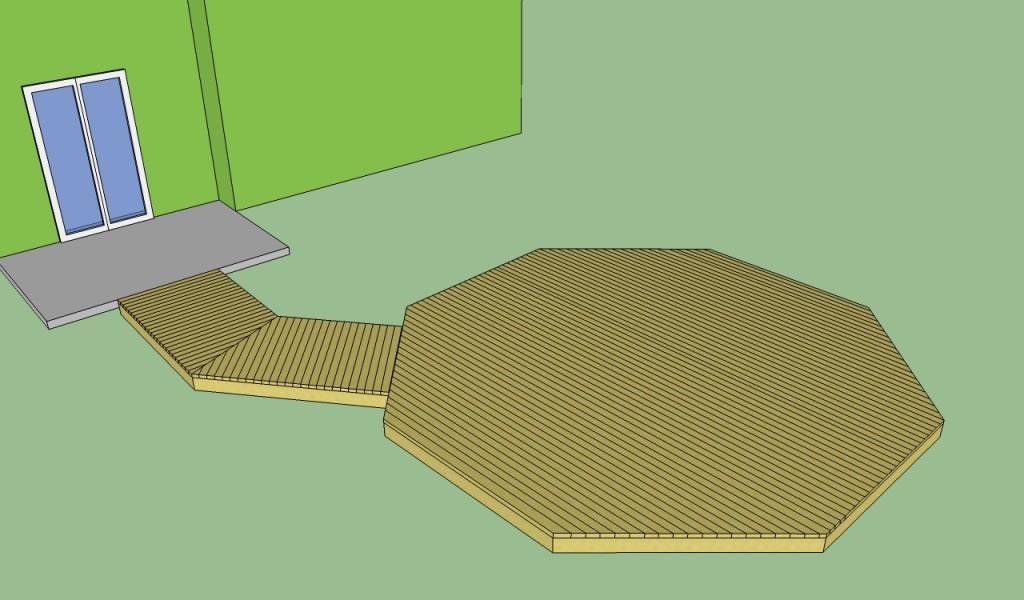 Octagonal deck