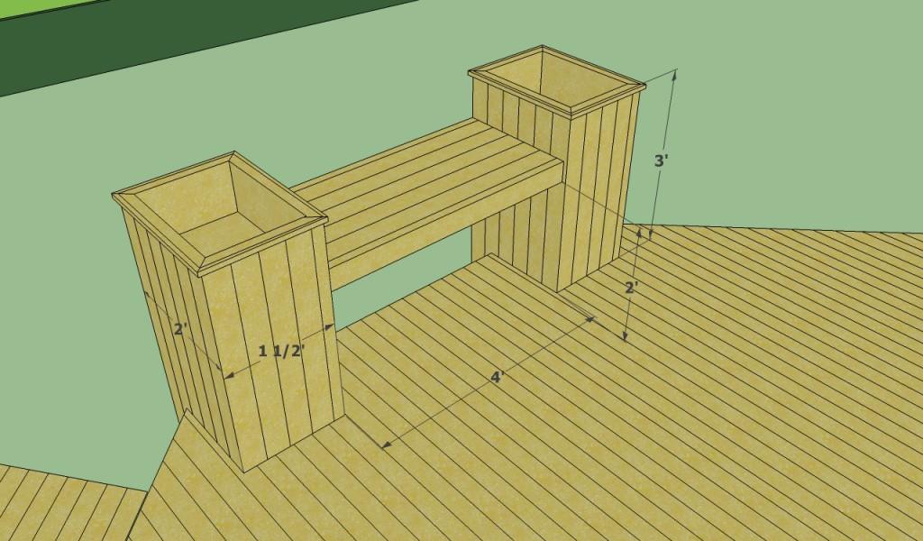 Octagonal deck bench